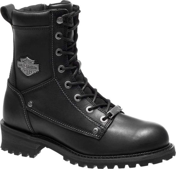 Harley-Davidson Men's Benteen 7.5-Inch Black Leather Motorcycle Boots D96154 - Wisconsin Harley-Davidson