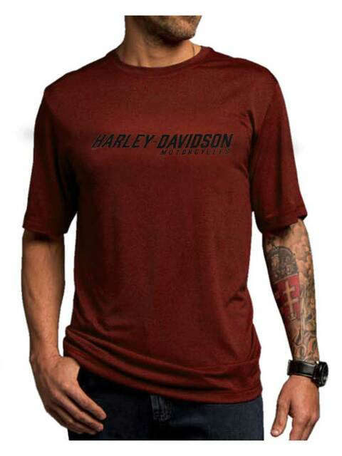 Harley-Davidson Men's Fateful Ride Performance Short Sleeve Shirt, Red 5N36-HE56 - Wisconsin Harley-Davidson