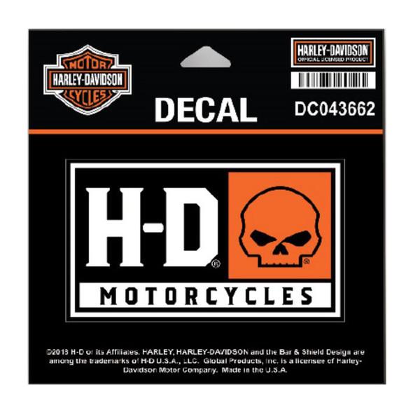Harley-Davidson H-D Willie G Skull Decal, SM Size - 4 x 2.25 in DC043662 - Wisconsin Harley-Davidson