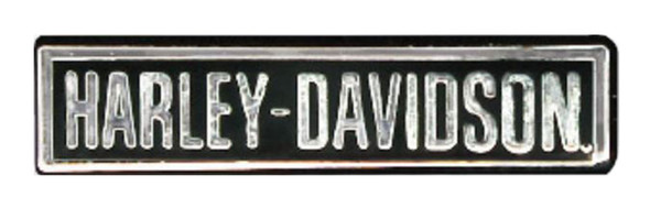 Harley-Davidson Engraved H-D Script Pin, Polished Silver w/ Enamel Fill P883061 - Wisconsin Harley-Davidson