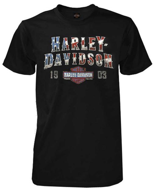 Harley-Davidson Men's Freedom & History Short Sleeve T-Shirt, Black 5K18-HF6Z - Wisconsin Harley-Davidson