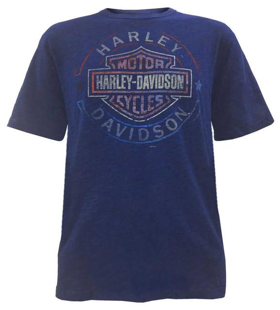 Harley-Davidson Men's Arguing Rhythm Crew Neck Short Sleeve Tee, Blue 5J04-HF0S - Wisconsin Harley-Davidson