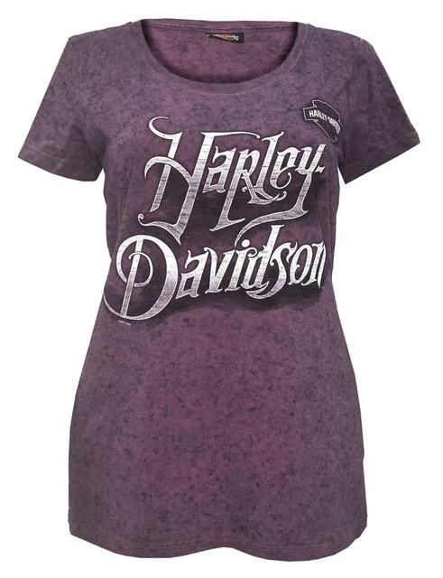 Harley-Davidson Women's Grip The Power Scoop Neck T-Shirt, Purple 5J0P-HF3F - Wisconsin Harley-Davidson
