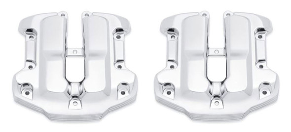 Harley-Davidson Defiance Upper Rocker Chrome Covers, Softail & Touring 25700663 - Wisconsin Harley-Davidson