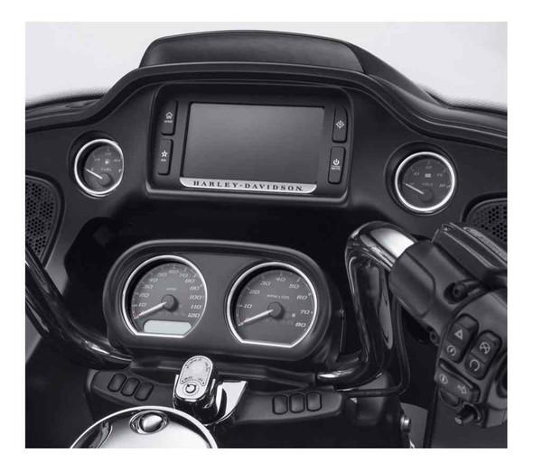 Harley-Davidson 4-Piece Defiance Gauge Bezels Fairing Kit - Machine Cut 61400361 - Wisconsin Harley-Davidson