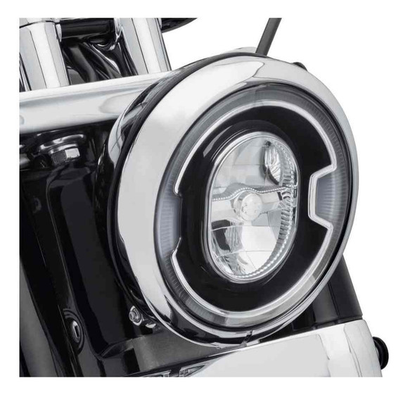 Harley-Davidson 7 in. Daymaker Signature Reflector LED Headlamp - Black 67700354 - Wisconsin Harley-Davidson