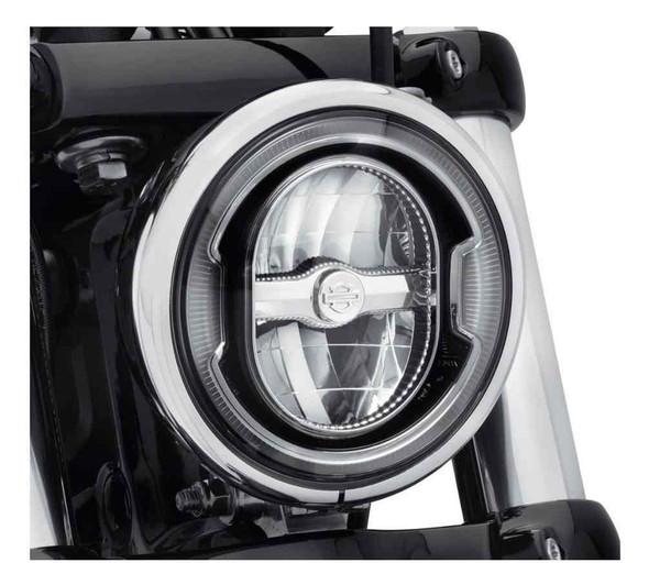 Harley-Davidson 5.75in. Daymaker Signature Reflector LED Headlamp-Black 67700356 - Wisconsin Harley-Davidson