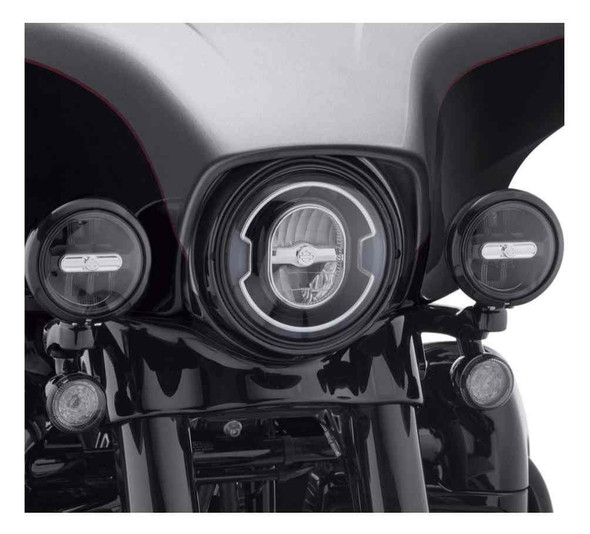 Harley-Davidson 4 in. Daymaker Reflector LED Auxiliary Lamps, Black 68000253 - Wisconsin Harley-Davidson