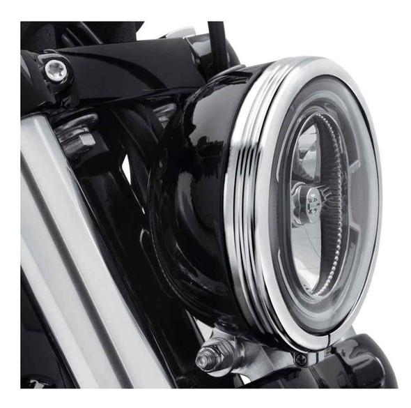 Harley-Davidson 5.75 in. Defiance Headlamp Trim Ring - Chrome Finish 61400429 - Wisconsin Harley-Davidson