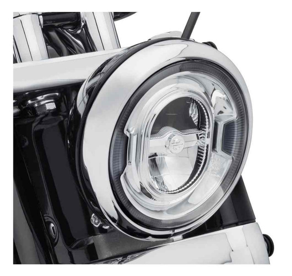 Harley-Davidson 7in. Daymaker Signature Reflector LED Headlamp - Chrome 67700353 - Wisconsin Harley-Davidson