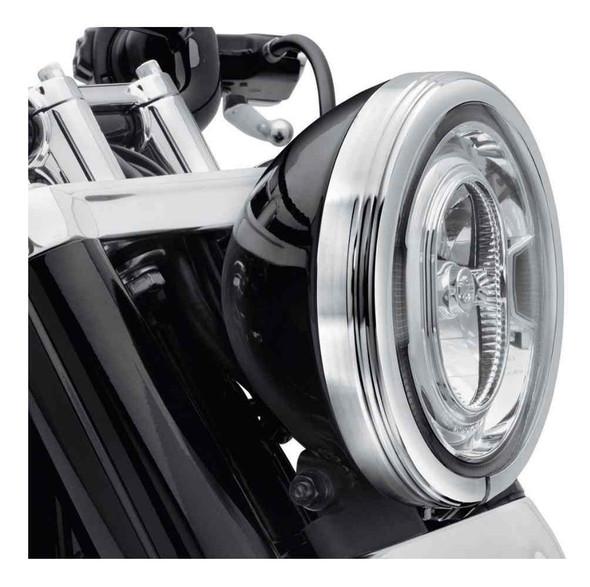 Harley-Davidson 7 in. Defiance Headlamp Trim Ring - Chrome Finish 61400432 - Wisconsin Harley-Davidson