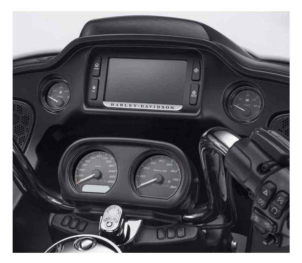 Harley-Davidson 4-Piece Defiance Gauge Bezels Fairing Kit- Black Finish 61400360 - Wisconsin Harley-Davidson