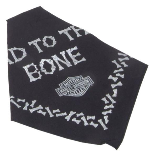 Harley-Davidson Bad To The Bone Pet Tie Bandana - SM 20in, Black H2300HBK520 - Wisconsin Harley-Davidson