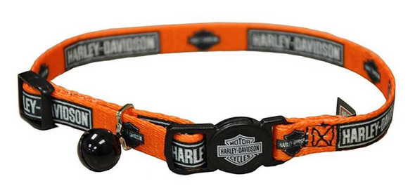 Harley-Davidson 3/8in. Adjustable Breakaway B&S Cat Collar - 12in. H6701 H COB12 - Wisconsin Harley-Davidson