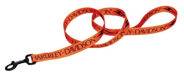 Harley-Davidson Tribal H-D Block Dog Leash - 6 ft. Length, Orange & Black - Wisconsin Harley-Davidson