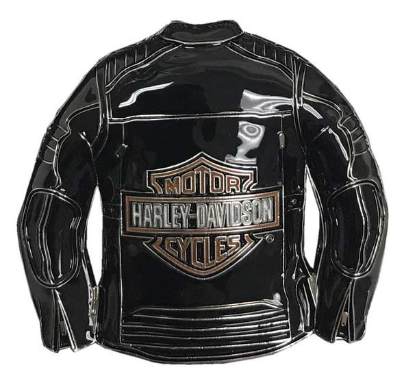 Harley-Davidson 3D Bar & Shield Motorcycle Jacket Metal Pin, Black, 240227 - Wisconsin Harley-Davidson