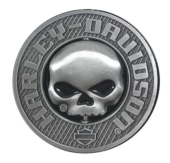 Harley-Davidson 3D Willie G Skull Spinner Metal Pin, Silver Coloring, 210009 - Wisconsin Harley-Davidson