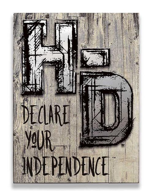 Harley-Davidson Aluminum H-D Cut-Outs Wood Slats Sign, 17 x 23 W6-ACCU-HAD-HARL - Wisconsin Harley-Davidson