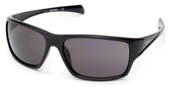 Harley-Davidson Men's H-D Kickstart Sunglasses, Shiny Black Frame & Smoke Lens - Wisconsin Harley-Davidson