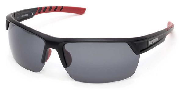 Harley-Davidson® Men's H-D Semi-Rimless Sunglasses, Matte Black Frame & Smoke Lens - Wisconsin Harley-Davidson