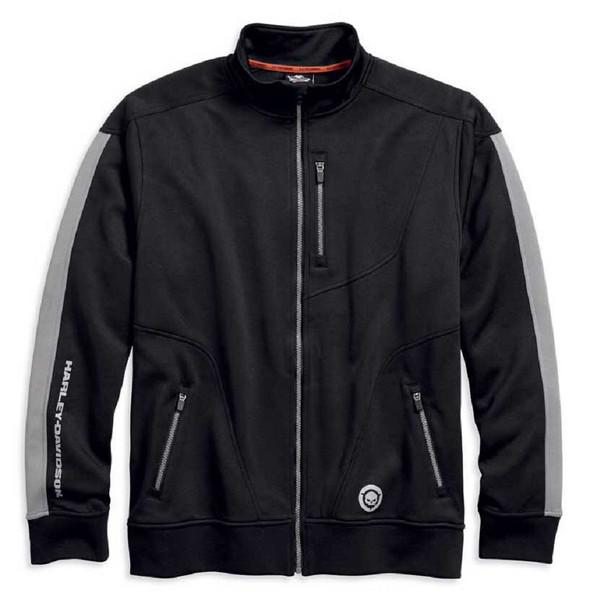 Harley-Davidson Men's High Performance Infrared Track Jacket, Black 96448-18VM - Wisconsin Harley-Davidson