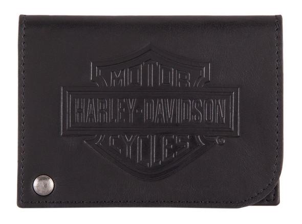 Harley-Davidson Men's B&S Classic Card Holder Leather RFID Wallet HDMWA11485 - Wisconsin Harley-Davidson