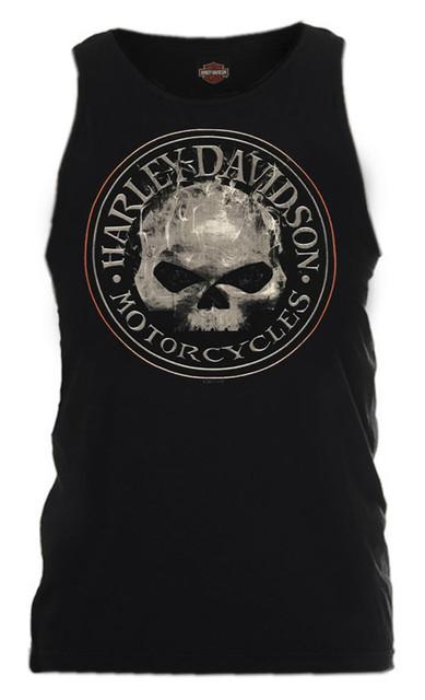 Harley-Davidson Men's Smokey Willie G Skull Sleeveless Tank, Black R002318 - Wisconsin Harley-Davidson
