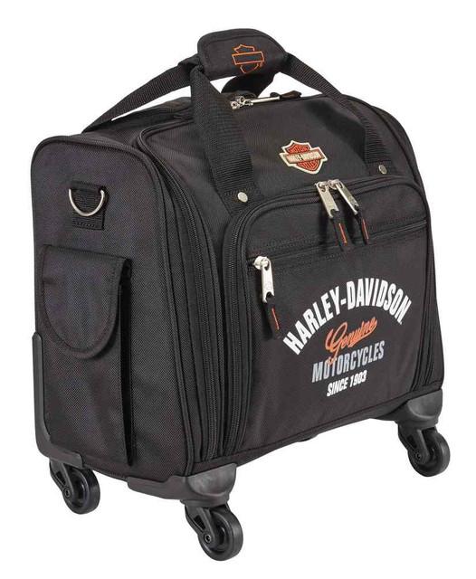Harley-Davidson 15.5 in. Wheeling Carry-On Plane Case, Black 99818-BLACK - Wisconsin Harley-Davidson