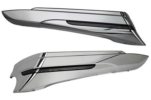 Ciro Saddlebag Extensions (Pair), Fits 97-13 H-D Touring Models, Chrome or Black - Wisconsin Harley-Davidson