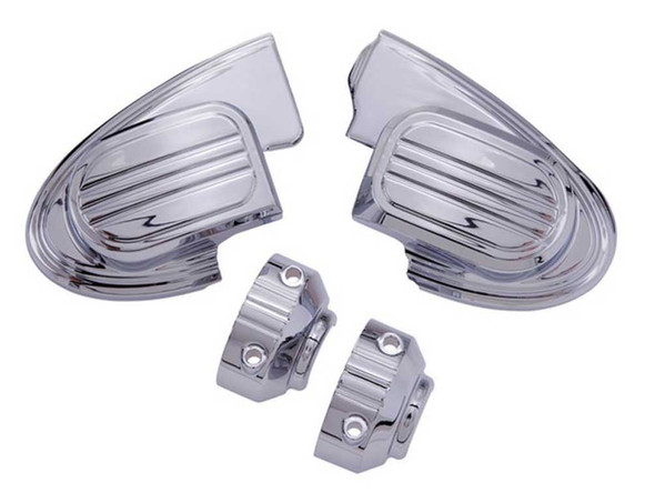 Ciro Master Cylinder Cover without Mirror, Fits Harley Touring, Chrome or Black - Wisconsin Harley-Davidson