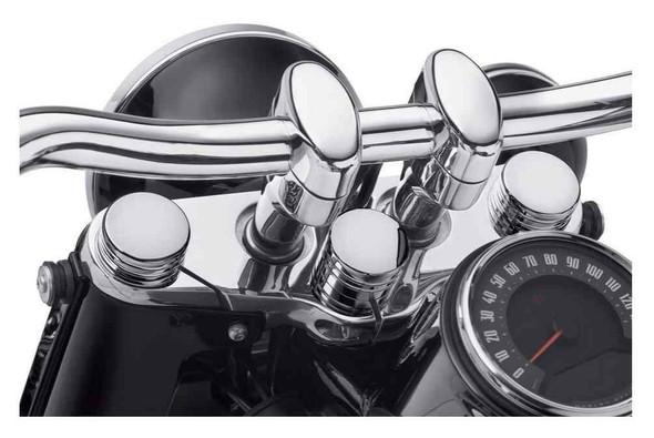 Harley-Davidson Steering Stem Bolt Cover - Chrome, Softail Models 45700049 - Wisconsin Harley-Davidson