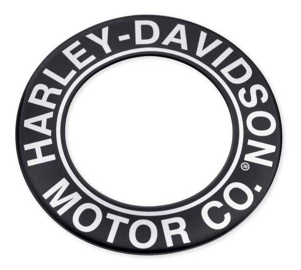 Harley-Davidson Motor Co. Script Fuel Cap Medallion, Fits XG Models 61300585 - Wisconsin Harley-Davidson