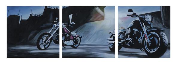 Harley-Davidson Live It Up! Limited Edition Hand Painted Artwork HDP-RA09 - Wisconsin Harley-Davidson