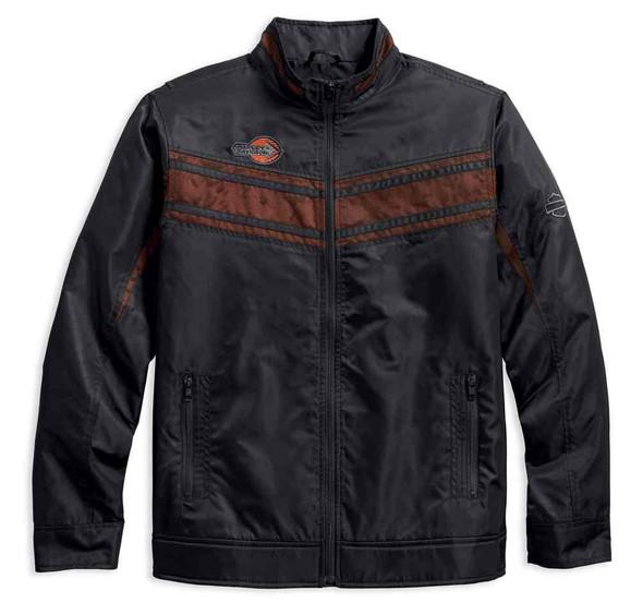 Harley-Davidson Men's Lightweight Mesh Accent Nylon Jacket, Black 97454-18VM - Wisconsin Harley-Davidson