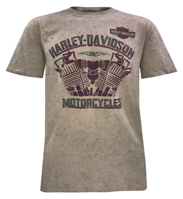 Harley-Davidson Men's Heat of Fusion Short Sleeve Tee, Dark Sand Wash 5J0M-HF5T - Wisconsin Harley-Davidson