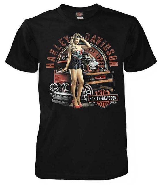 Harley-Davidson Men's Timeless Attraction Short Sleeve T-Shirt, Black 5L33-HF4W - Wisconsin Harley-Davidson