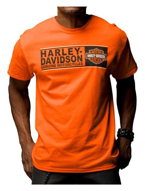 Harley-Davidson Men's Destination Freedom Crew T-Shirt, Safety Orange 5Q11-HE8Z - Wisconsin Harley-Davidson