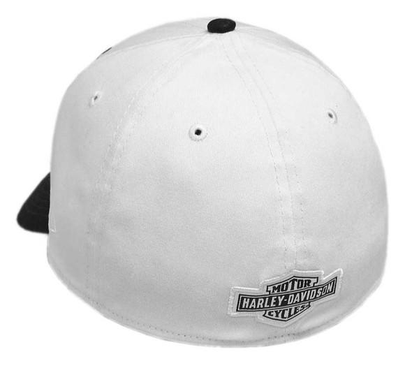 Harley-Davidson Men's Embroidered Eagle 39THIRTY Baseball Cap, White 99427-18VM - Wisconsin Harley-Davidson