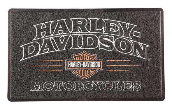 Harley-Davidson American Legend PVC Entry Floor Mat, 18 x 30 - Black 41LM4900 - Wisconsin Harley-Davidson