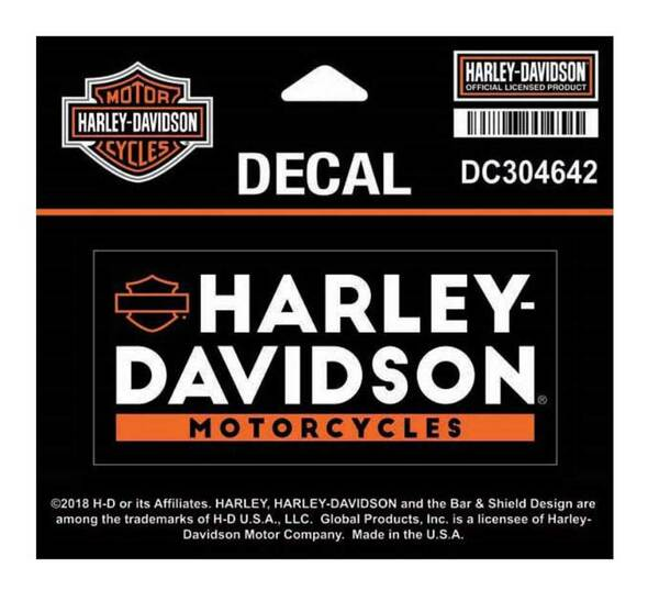 Harley-Davidson Basic Text Decal, SM Size - 4 x 1.8125 inches DC304642 - Wisconsin Harley-Davidson