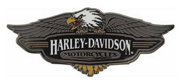 Harley-Davidson Large Vintage Logo Pin, Black Finish - 1.75 x 0.75 in P289064 - Wisconsin Harley-Davidson