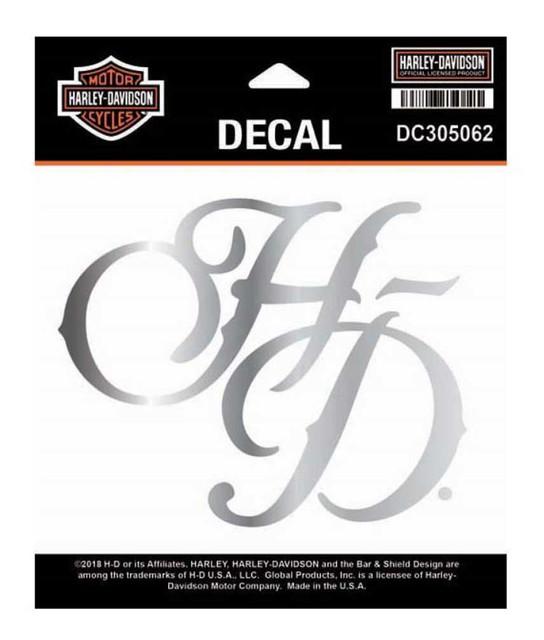 Harley-Davidson H-D Chrome Metallic Die-Cut Decal, SM Size - 5 x 4 in DC305062 - Wisconsin Harley-Davidson