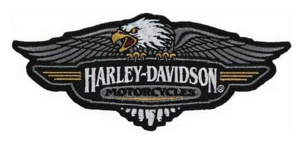 Harley-Davidson Embroidered Vintage Logo Emblem Patch, 5.125 x 2.125 in EM289883 - Wisconsin Harley-Davidson