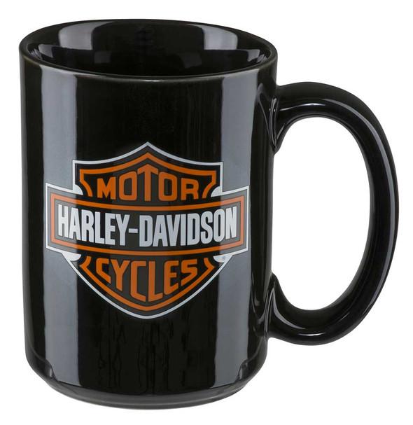 Harley-Davidson Core Bar & Shield Logo Coffee Mug, 15 oz. - Black HDX-98605 - Wisconsin Harley-Davidson