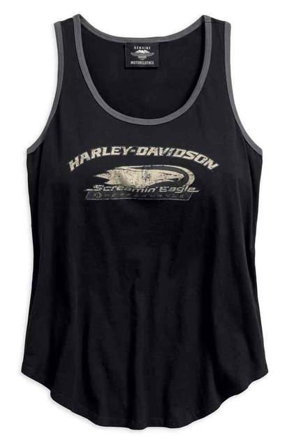 Harley-Davidson Women's Screamin' Eagle Sleeveless Tank, Black 96299-18VW - Wisconsin Harley-Davidson