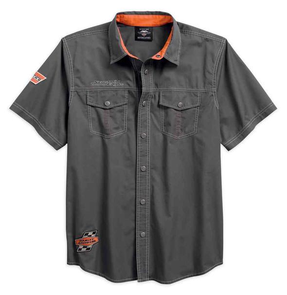 Harley-Davidson Men's Screamin' Eagle Short Sleeve Woven Shirt 96287-18VM - Wisconsin Harley-Davidson