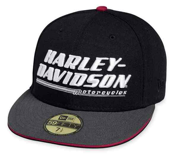 Harley-Davidson Men's 3D Embroidered 59FIFTY Fitted Cap, Black 97667-18VM - Wisconsin Harley-Davidson