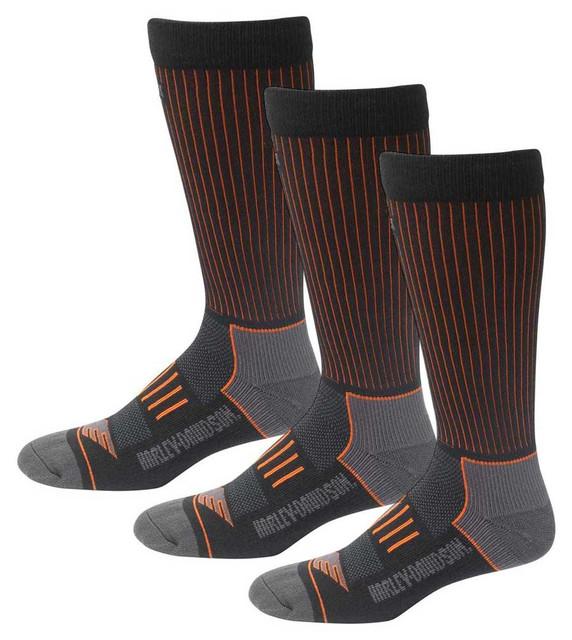 Harley-Davidson Men's Compression Coolmax Riding Socks, 3 Pairs D99219170-001 - Wisconsin Harley-Davidson