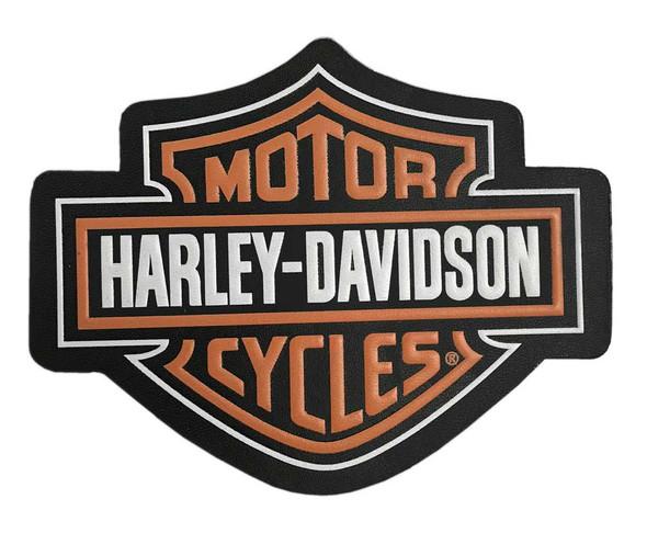 Harley-Davidson Genuine Bar & Shield Logo Leather Emblem Patch, 4 x 3 inches - Wisconsin Harley-Davidson