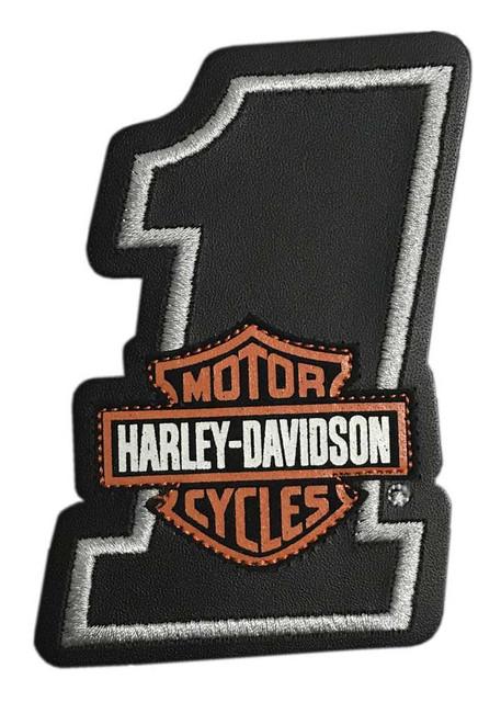 Harley-Davidson Bar & Shield #1 Leather Emblem Patch, 4 x 2.75 in. HDEML1002 - Wisconsin Harley-Davidson